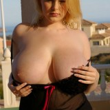 Ashley Sage Teases Us With Her Huge Tits Outdoors