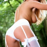 Cikita Is A Real Stunner In Her Lingerie In The Forest