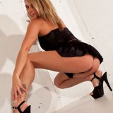 Nikki Takes Her Panties Off And Just Wears A Black Skirt