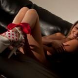 Nikki In A Red And White Polka Dot Bikini