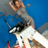 Nikki Does A Little Painting But Ends Up Getting More Paint On Herself Then The Wall