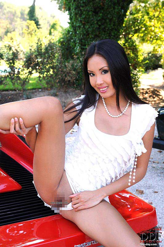 Exotic Danika With Ferrari