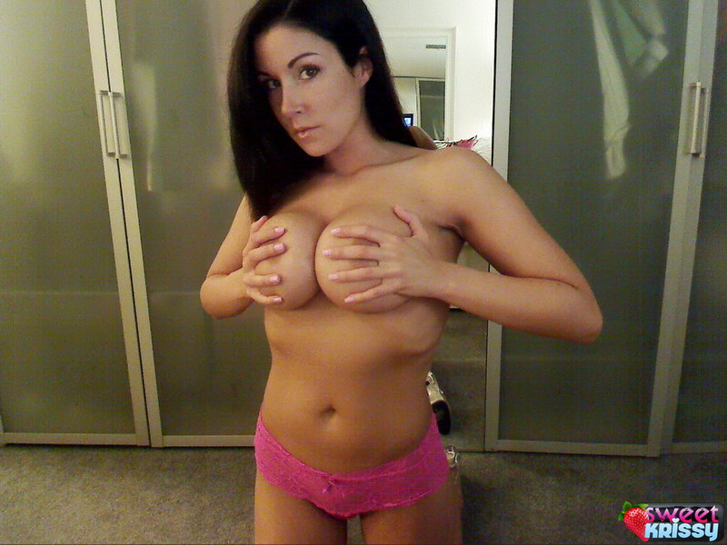 Sweet Krissy Loves To Tease With Her Huge Perfect Breasts