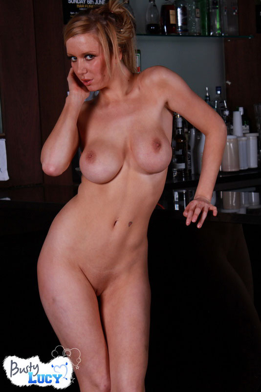 Busty Lucy Shows Off Her Tight Teen Body In A Bar