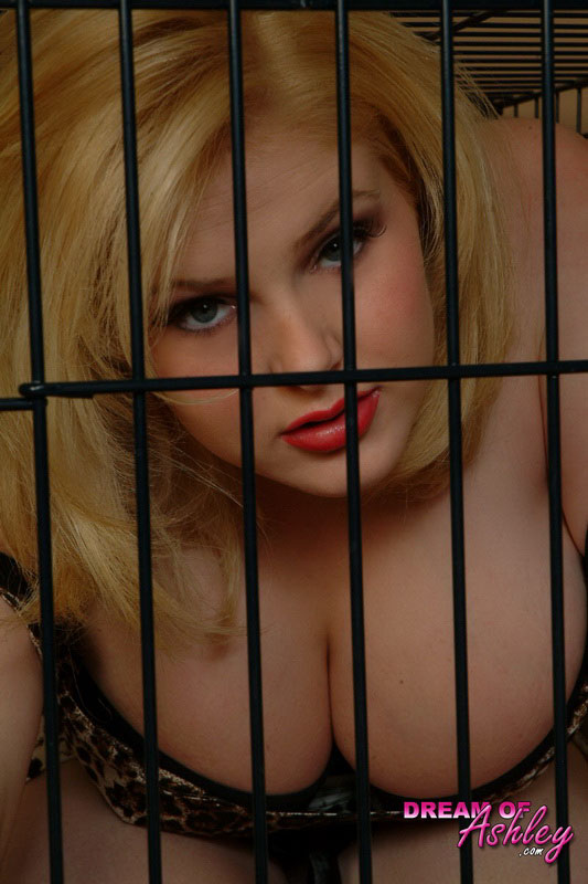 Big Boobed Teen Ashley Plays Dress Up And Gets Trapped In A Cage Like A Kitty