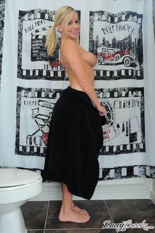 Lacey Brooks - Black Towel