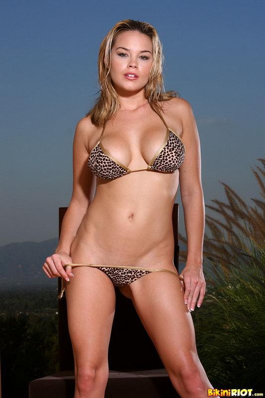 Brea Lynn Leopard Thong Bikini And Vibrator