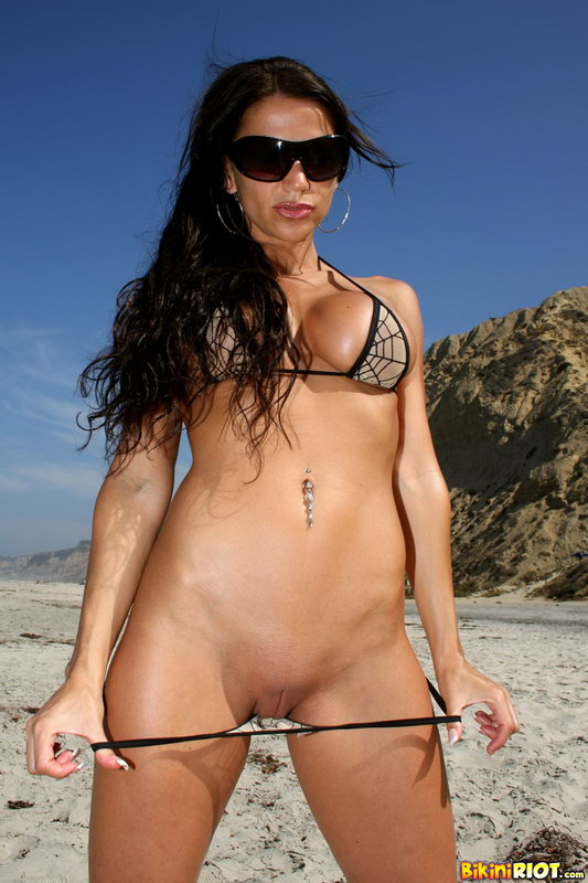 Rebecca Rayann Rolling In The Sand At The Beach