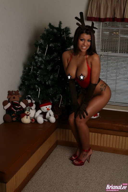 Briana Lee Sexy Outfit For Christmas