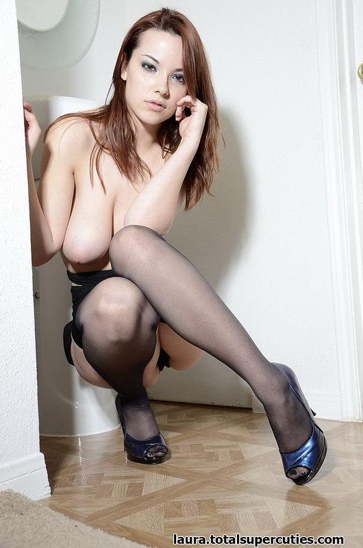 Totalsupercuties: Laura - Big Teen Boobs And Stockings