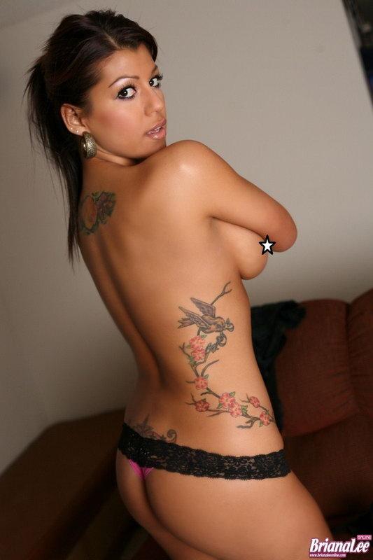 Briana Lee Black Mini Skirt Gets Topless