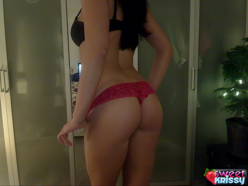 Sweet Krissy Loves To Play With Her Nipples And Her Big Juicy Tits