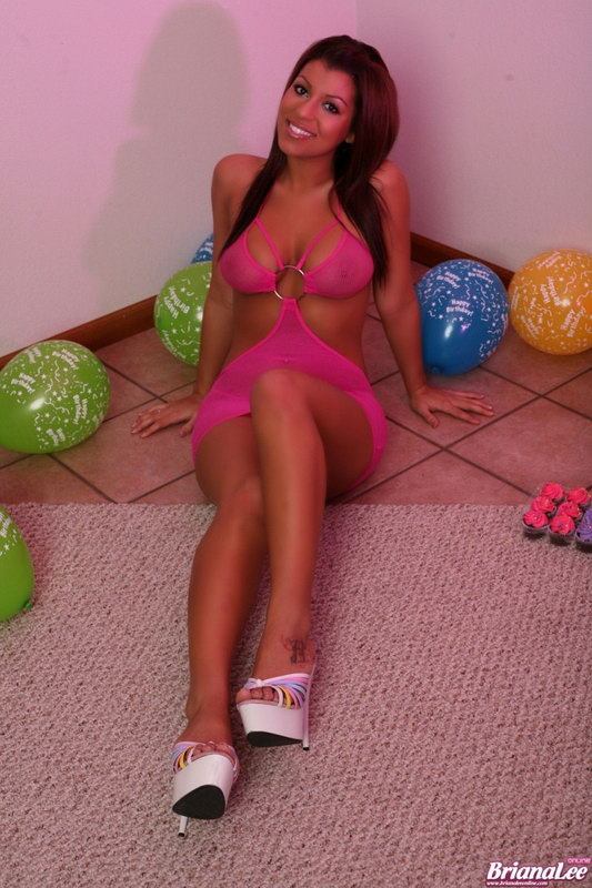 Briana Lee In A Sexy Sheer Pink Outfit Is Her Gift To You!