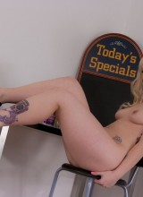 Lynn Pops is the special today! All naked cept for her heels