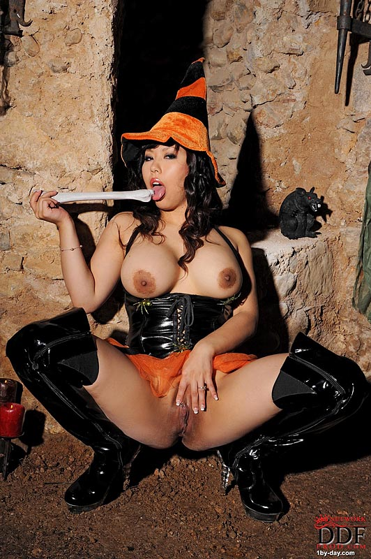 1by-day: Tigerr Benson - Busty Asian Witch Is Horny!