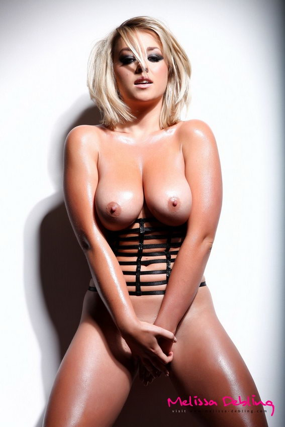 Melissa Debling In Just Her Little Leather Strap Corset