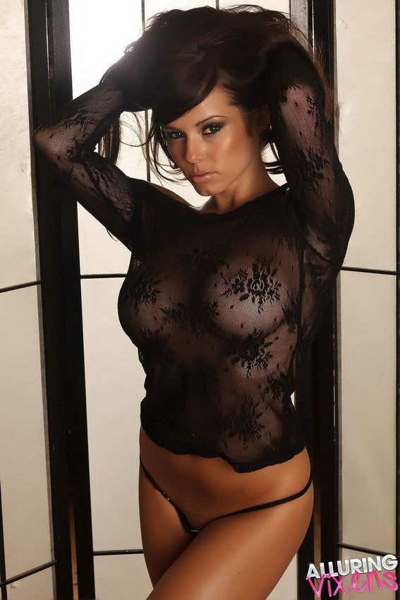 Alluring Vixens: Candace Shows Off Her Big Perfect Breasts In A Very Sexy And Almost Sheer Lace Top