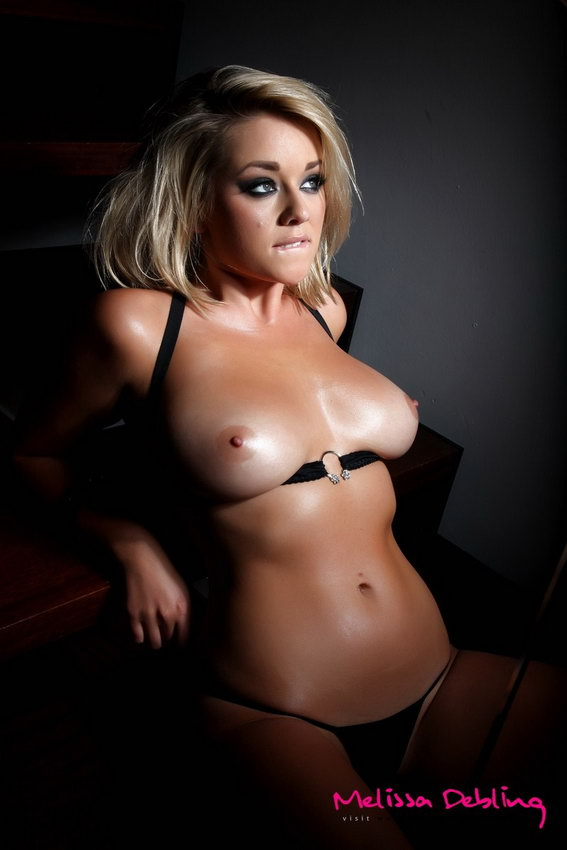 Melissa Debling Strips To Just Her Little Tiny Black G-sting