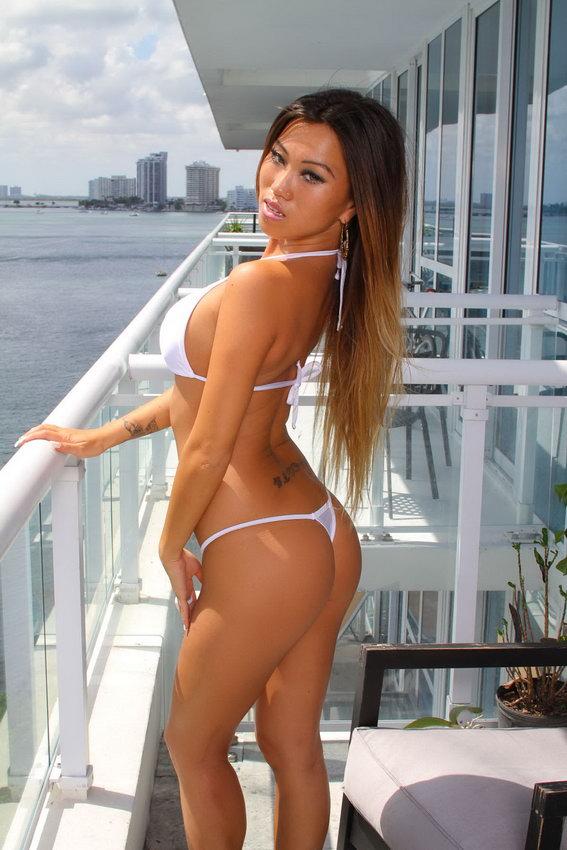 Jada Cheng - Naughty White Bikini