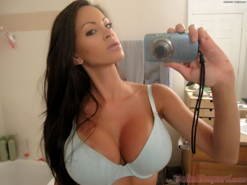 Talia Shepard Playing With Her Camera In The Bathroom