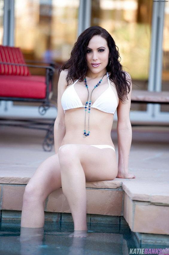 Katie Banks Relaxing In The Pool