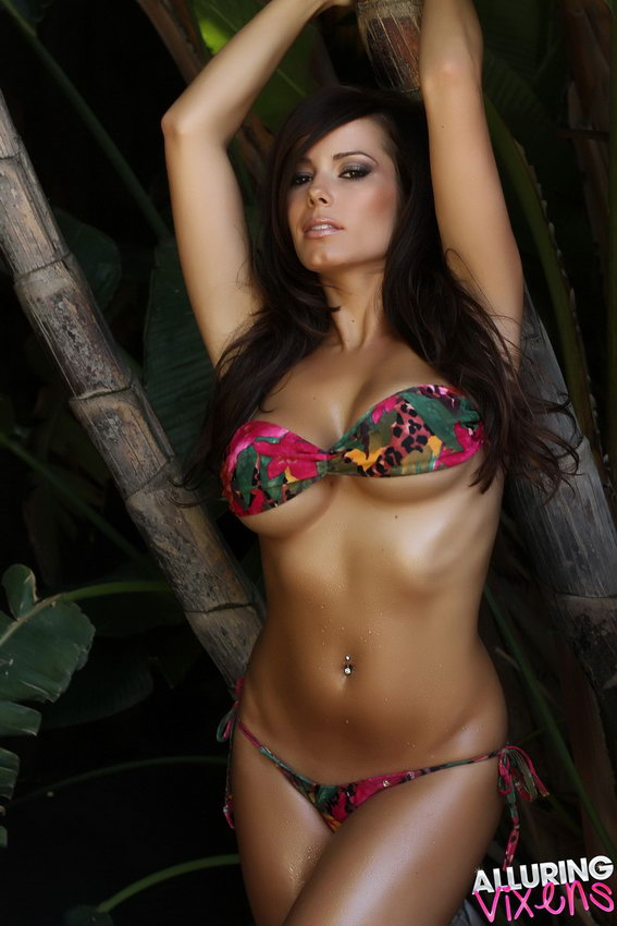 Alluring Vixens: Candace Shows Off In A Very Skimpy Bikini Outside