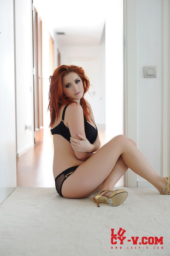 Lucy V Stripping From Her See Thru Top And See Thru Panties