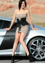 La Zona Modelos: Kami Li is a sexy first timer that masturbates in front of a sport car