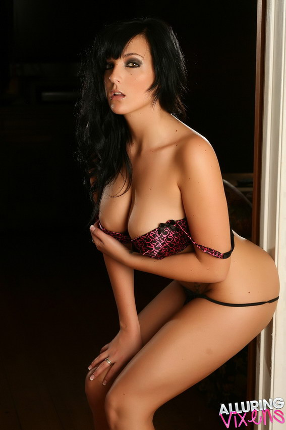 Alluring Vixens: Busty Vixen Kaya Danielle Shows Off Her Huge Breasts In A Tight Cute Bra