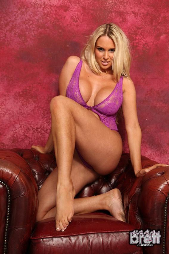 Cara Brett Stripping From Her See Thru Bodysuit