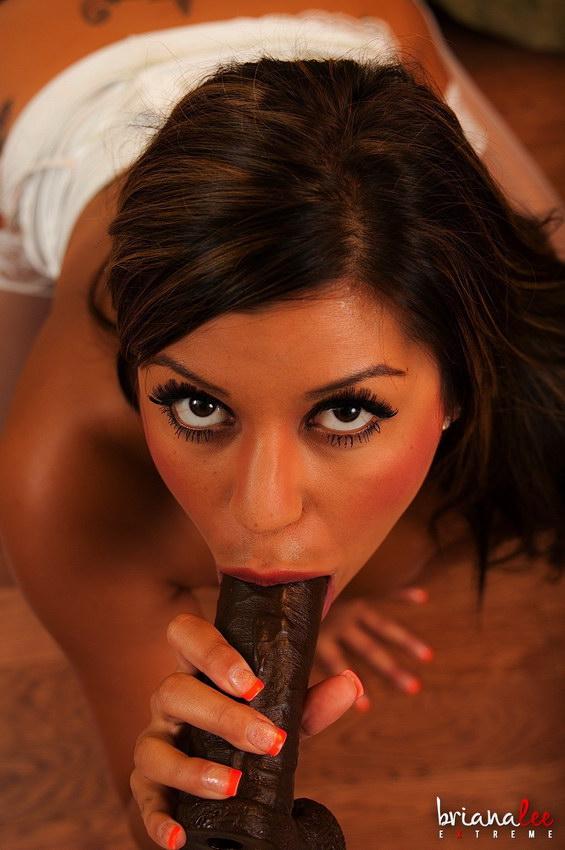 Briana Lee Extreme - Chocolate Dildo