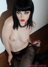 Mellisa Clarke looks lush in stripping from her lingerie