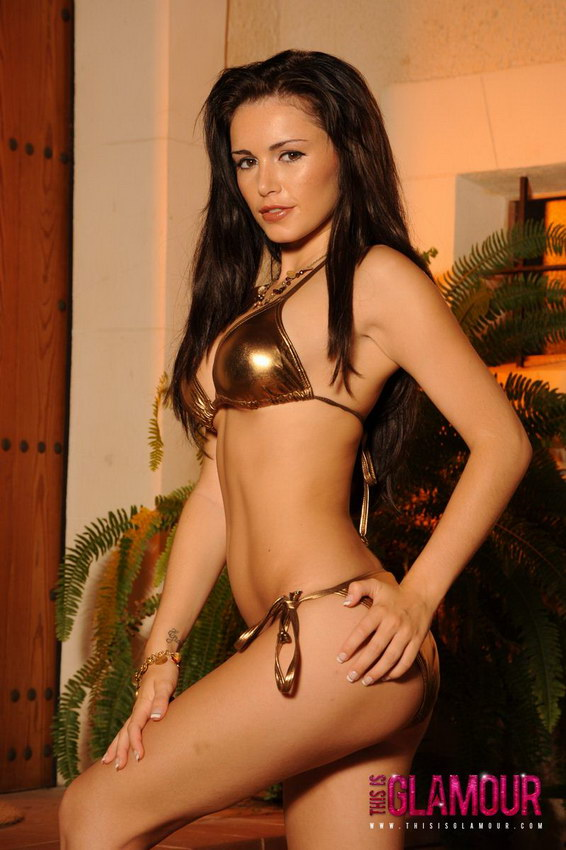 This Is Glamour: Gemma Massey Looking Gorgeous And Strips Nude From Her Gold Bikini