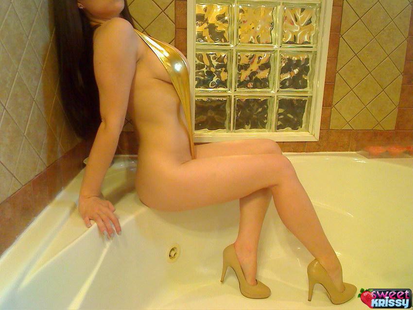 Sweet Krissy - Shiny Gold Sling Bikini