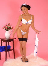 Pin-Up Wow: Charming maid Petra Lily So makes her cleaning duties for you as sexy as possible