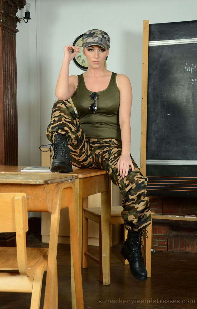 St Mackenzies Mistresses: Miss Coppin - Sexy Ex Army Teacher Strips Nude
