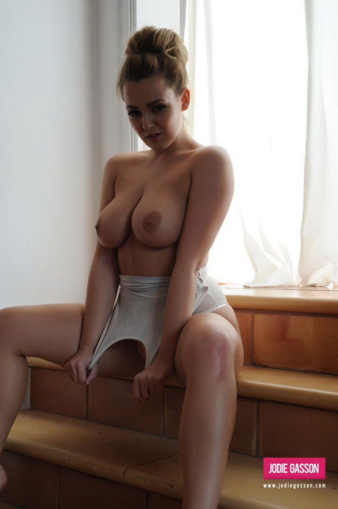 Jodie Gasson Peels Down Her Tight Bodysuit