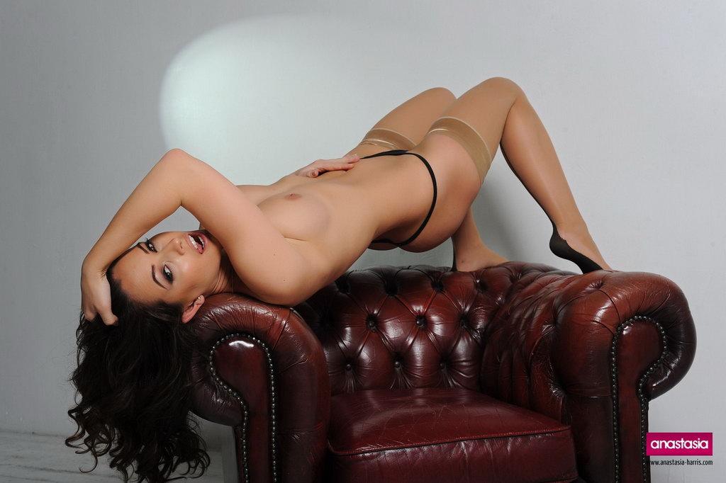 Anastasia Harris Peels Off Her Hot Black Top
