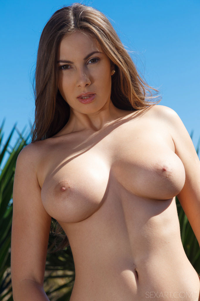 Sex Art: Roselyne A Revealing Her Magnificent Large Breasts With Puffy Nipples