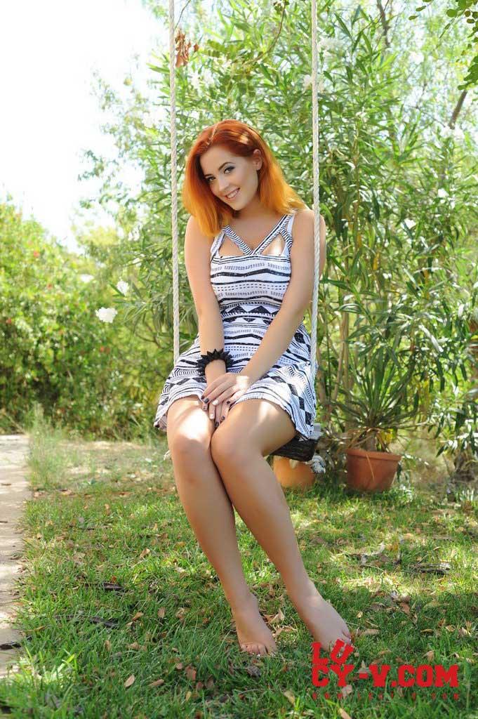 Lucy V Sitting Pretty On A Swing