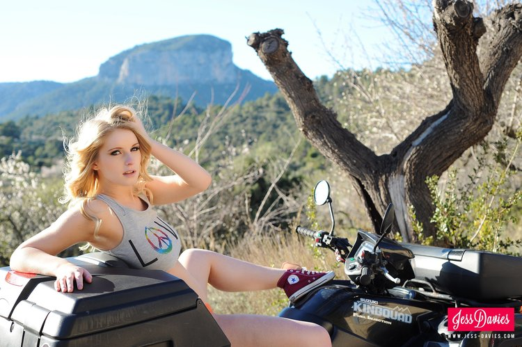 Jess Davies Goes For A Long Hard Ride