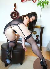Ann Angel XXX - Sexy Black Lingerie