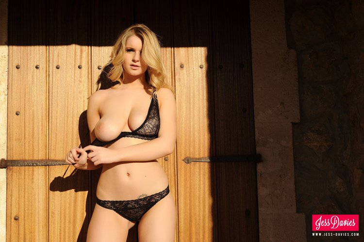 Jess Davies Strips Her See Through Bra