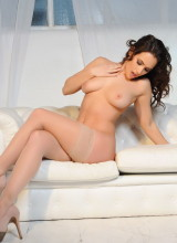 Anastasia Harris Strips Nude From Her Frilly Lingerie