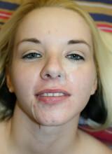Share My GF: Big titty blonde girlfriend gets cum all over her pretty face