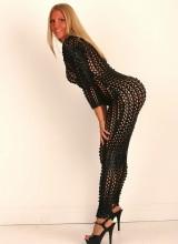 NextDoor-Models: Leslie Scarscelli - Black Cat Suit