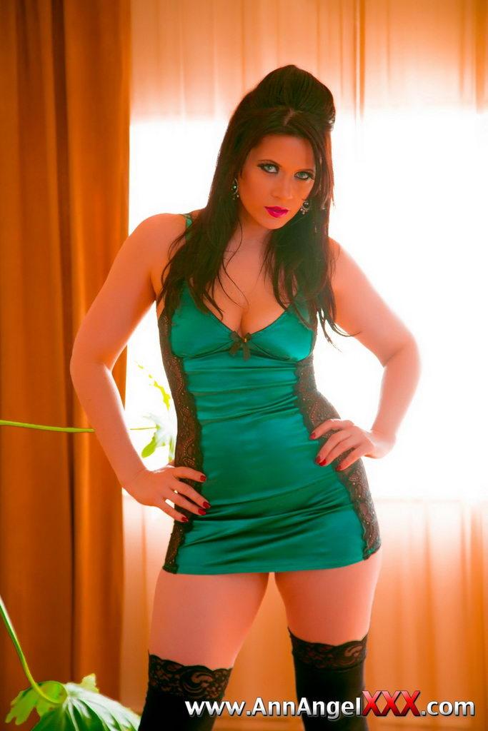 Ann Angel Xxx  Green Lingerie  Web Starlets-4225