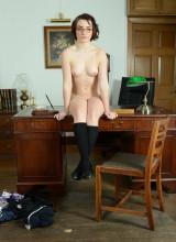 St Mackenzies: Victoria Porter slowly slips off all her uniform & lingerie