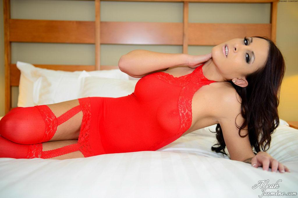 Aleah Jasmine - Red Mesh