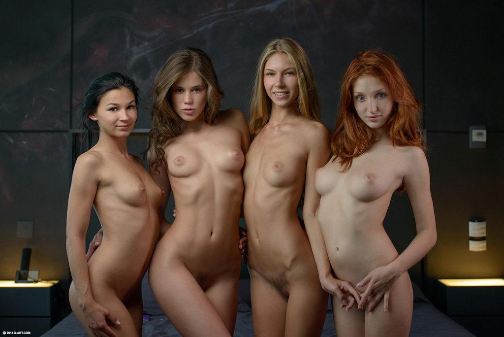Nudes Kunst Jenter Grupper